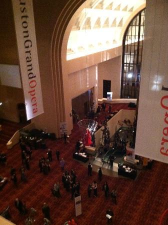 Houston Grand Opera: THe lobby of the Wortham Theater Center