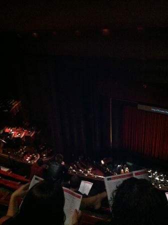 Houston Grand Opera: Before curtain call in the Wortham Theater Center