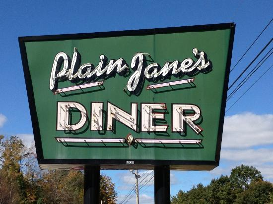 Plain Jane's Diner: Cute sign on the highway