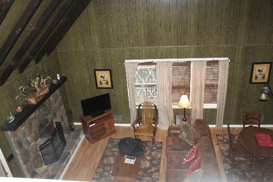 Dillard House: View from Loft Down.