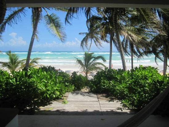 Hotel Cabanas Tulum: View from my best friends beach front deluxe ground floor room