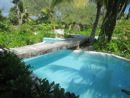 Hotel Cabanas Tulum: The pool area, like a little river, peaceful and lovely surroundings