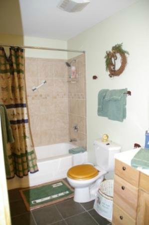 Fall River Cabins: Blue Spruce bathroom