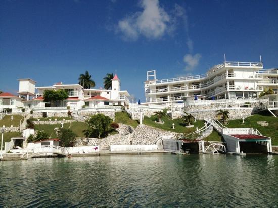 Piscina foto di hotel laguna bacalar bacalar tripadvisor for Villas wayak bacalar