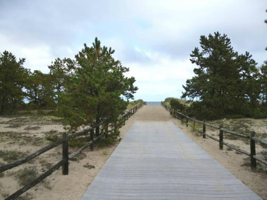 Saco, Μέιν: Walkway to ocean at Ferry Beach