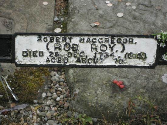 Rob Roy's Grave: Rob Roy MacGregor's Grave