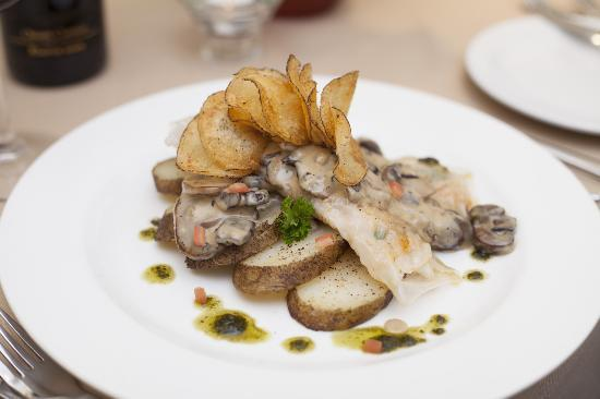 Mask: Pickerel with mushrooms
