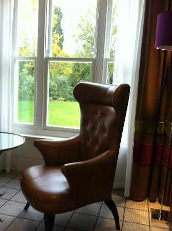 Rudding Park Hotel: Amazing views and the perfect seat to enjoy a glass of wine 