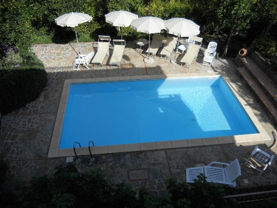 Villa Flavia: View of the pool from our balcony