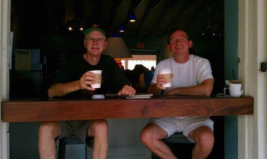 Polly's at the Pier : Great coffee at Polly's! Wayne & Howie 2012. :v)