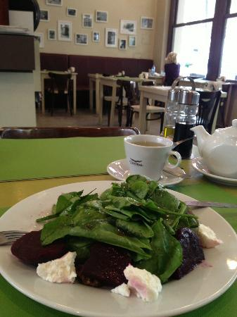 Natural Deli: my favorite beet/goat cheese salad