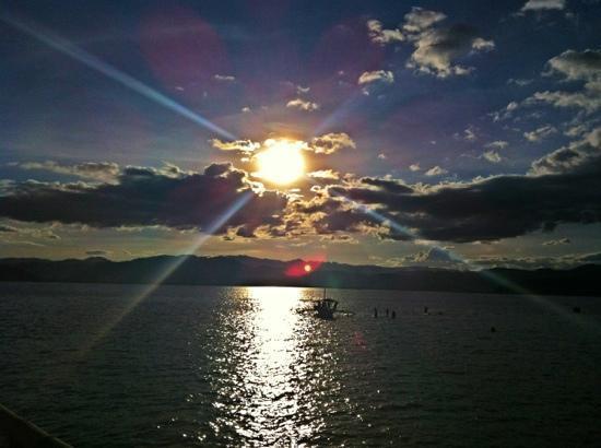 Bais City, Philippines: sunset