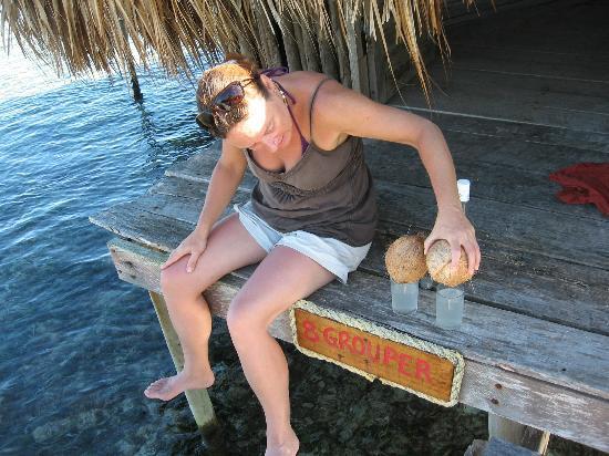 Glover's Atoll Resort: rum mixer!