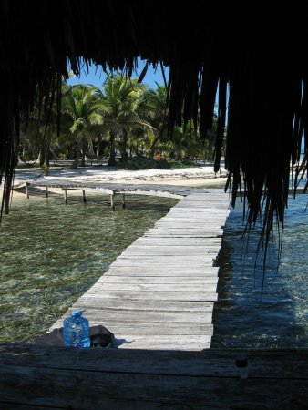 Glover's Atoll Resort: view from the front door