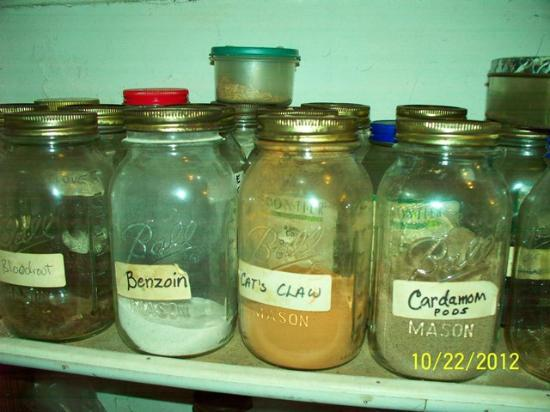 New Orleans Historic Voodoo Museum: Jars in the Spritual Temple's shop