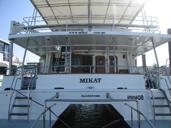 M.V. Mikat Cruises: Rear view of vessel