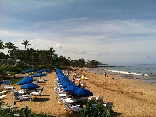 Fairmont Kea Lani, Maui: polo beach easter morning 9am view from walking path