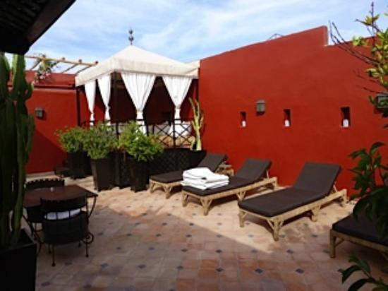 Riad Argan: Rooftop recreation area