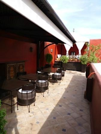 Riad Argan : Roof top dining