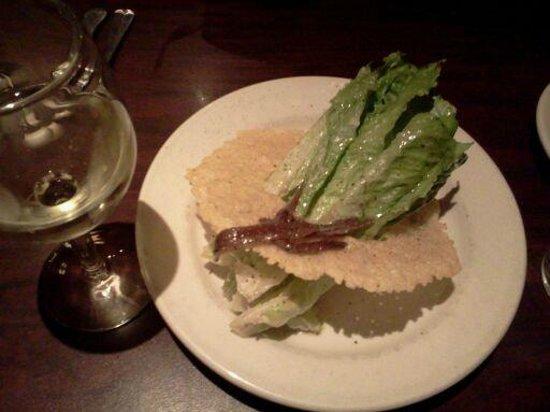 Cafe Italia: Most Amazing Caesar Salad in Parmesan Disc