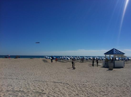Marriott Stanton South Beach: la plage devant l'hôtel 