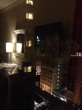 The Kensington Park Hotel: night view outside window, 12th floor royal king room