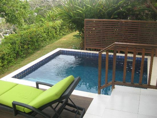 Mangoes Resort: Our private pool