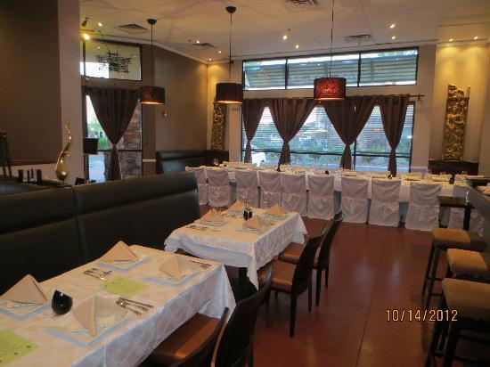 Dining room set up for a party Picture of Panna Thai Restaurant