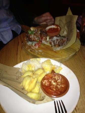 Italian nachos and spaghetti fritters - Picture of Jamie's Italian ...