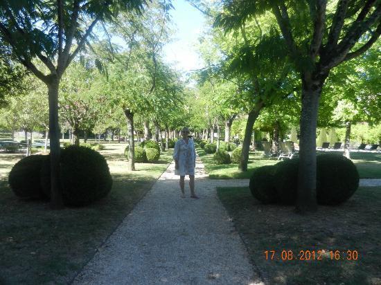 Le Vieux Logis: le parc à la française près de la piscine