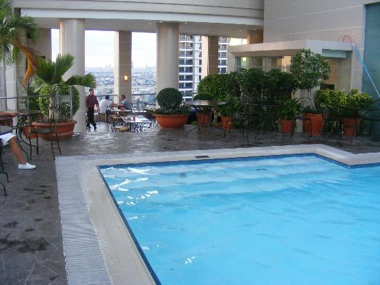 View from pool bar Picture of City Garden Hotel Makati Makati