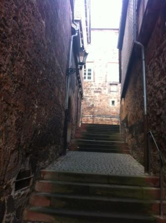typical for Marburg, all the little alleys leading you upstairs to the castle
