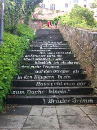 Marburg, Australia: brother Grimm stairs just underneath the castle
