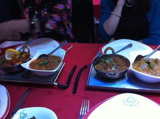 The Gurkha Restaurant: main courses
