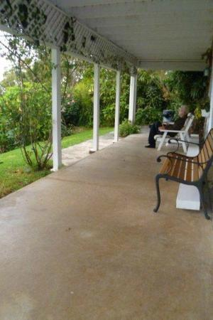 Belle Vue: our veranda