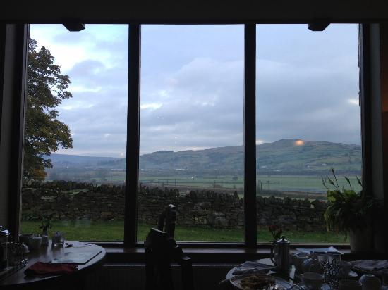 Throstle Nest Farm Bed and Breakfast: What a breakfast view!