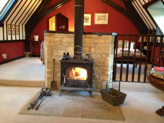 The Old School Bed and Breakfast: the lovely fireplace