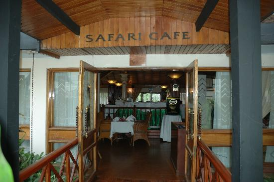 Jacaranda Nairobi Hotel: At the door of the dining place - 'Safari Cafe'