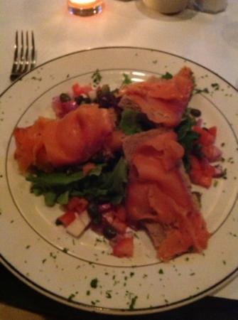 O'Casey's: Smoked Salmon on soda bread