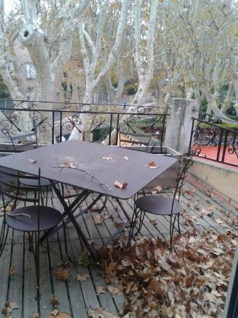 La Touloubre : Terrazzino della suite