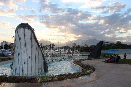 Antalya Aquarium: whale fountain