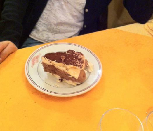 Hotel Restaurant Bain: Mousse chocolat et meringue
