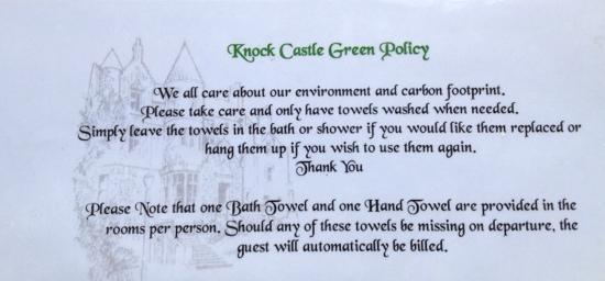 """Knock Castle Hotel & Spa: die """"Begrüßung"""""""