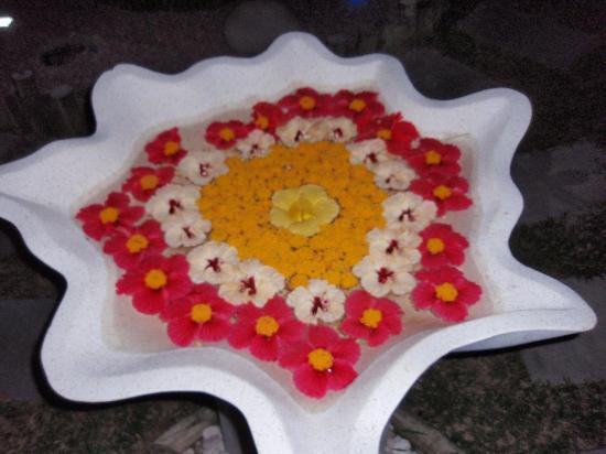Le Duc de Praslin : Décoration Floral à divers endroit du jardin