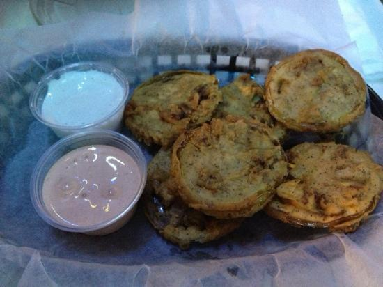 Westridge Grill: Half order of fried green tomatoes.