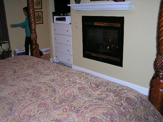 Stone Hill Inn: fireplace in bedroom