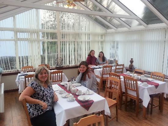 The Northumberland Hotel: the breakfast room.