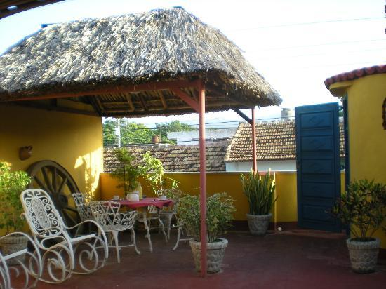 Casa Izquierdo: Our own private terrace. Perfect place to have our meals!