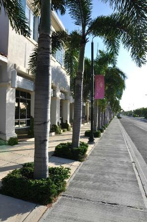Grace Bay Suites: Street in front of hotel