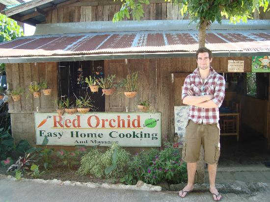 The Red Orchid : outside